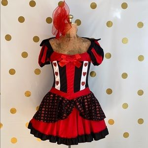 - NWT 3 Piece  Rubies Queen Of Hearts Costume